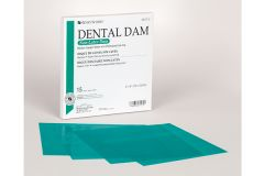"Rubber Dam Latex-free Green (6"" x 6"")"