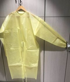 Isolation Gown Yellow (44g PP+PE laminate)